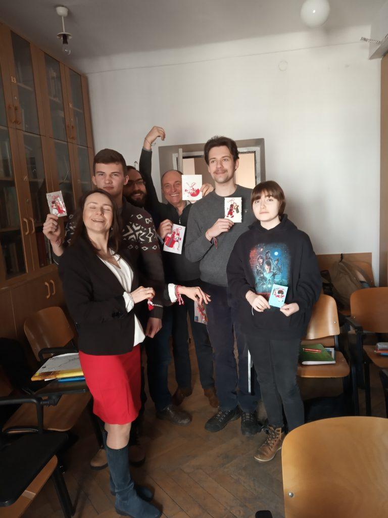 Студенти с мартенички